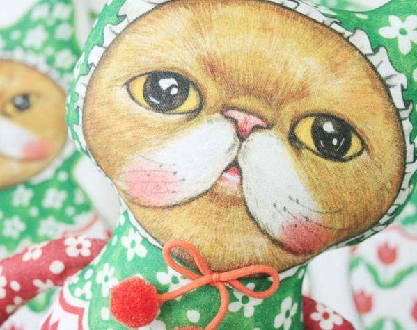 D.I.Y Fabric no.3/Uncle cat/Duck/cat/himalayan/Persian/cut/sew/panel