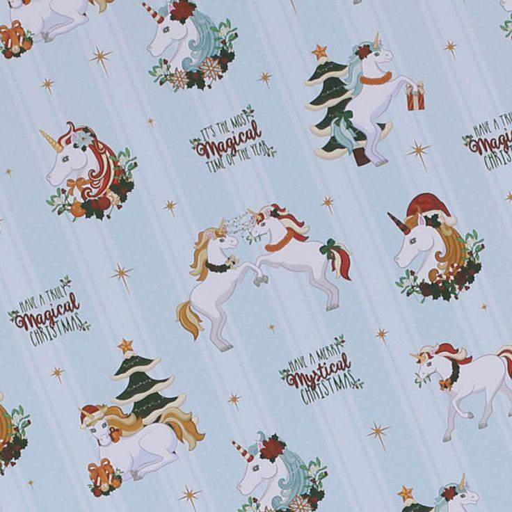Papel de regalo Unicornios Navideños #unicornio #papel #regalo #envoltorio #empaquetar #empaquetado #paquete #envolver #navidad #cumpleaños #regalos