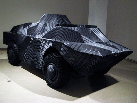 art picture made from rubber tyres - Google Search