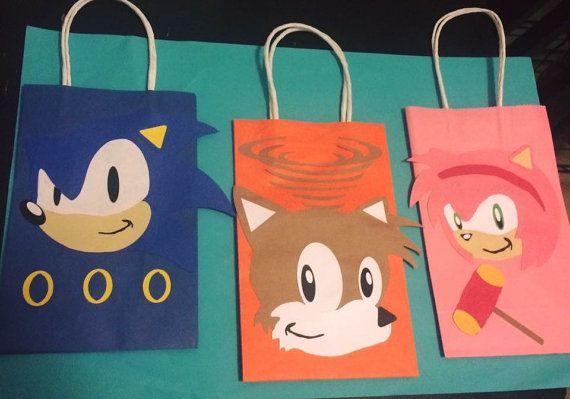 Sonic the Hedgehog Favor Bags