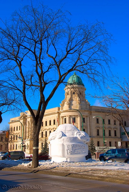 Snow Sculptures, Winnipeg Manitoba Canada