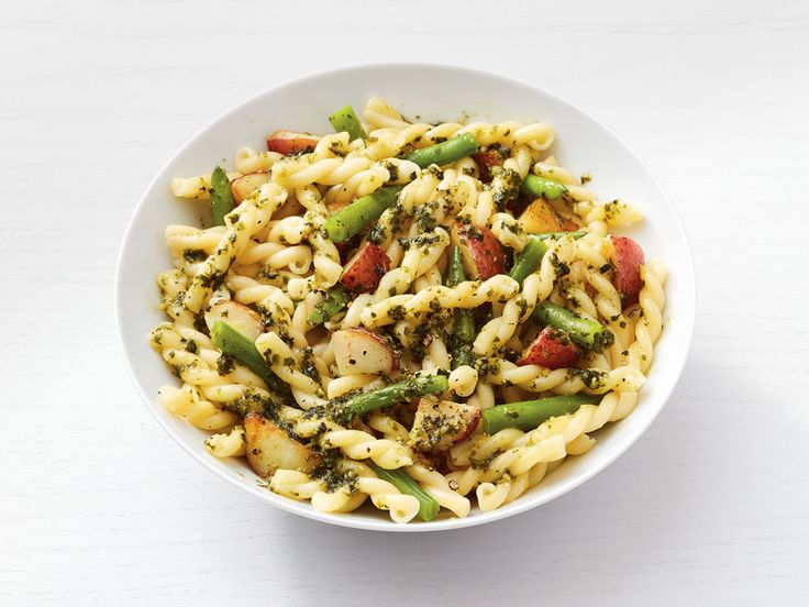Gemelli with Pesto, Potatoes and Green Beans recipe from Food Network Kitchen via Food Network
