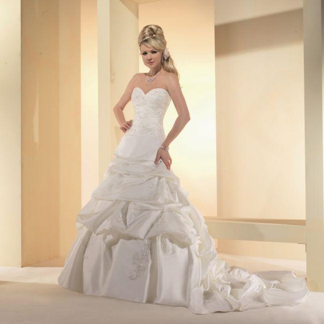 robe de mariée rideau baroque 2