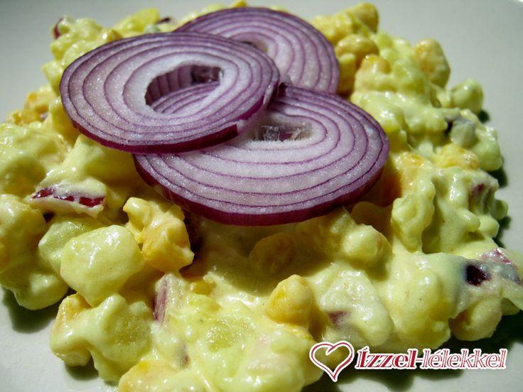 Kurkumás-kukoricás krumplisaláta