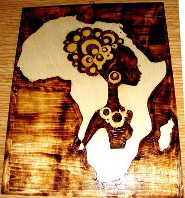 África em pirogravura                                                       …                                                                                                                                                                                 Mais
