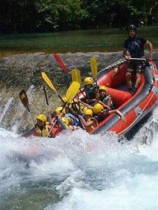 Rafting in Voidomatis river. Zagorochoria, Epirus Region, Greece