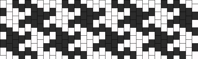 Houndstooth bead pattern