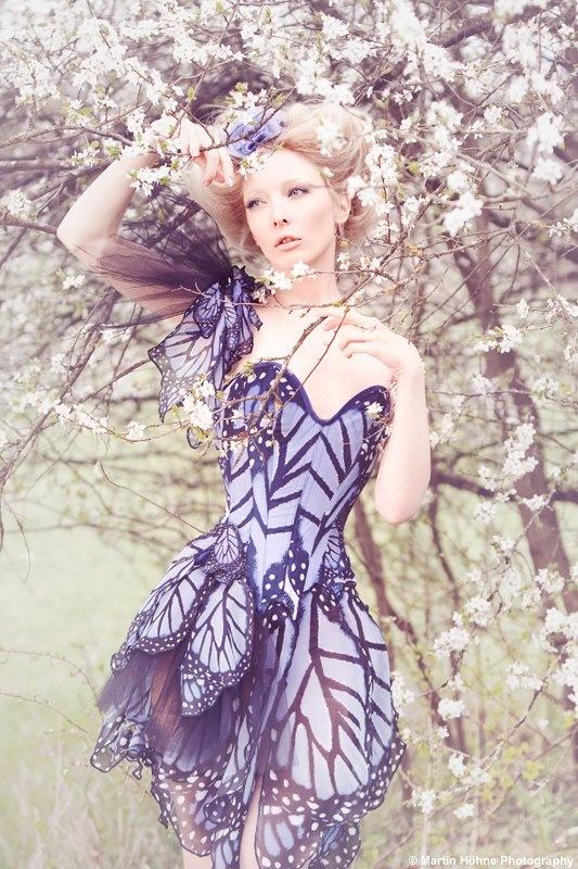 """Crystal Flowers"" SS2012-Butterflies collection Bibian Blue"