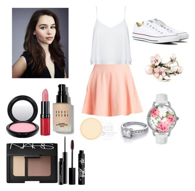 """""""Untitled #90"""" by bethany-booxx on Polyvore featuring Charlotte Russe, Alice + Olivia, Converse, NARS Cosmetics, MAC Cosmetics, Rimmel, Rouge Bunny Rouge, Bobbi Brown Cosmetics, Shaun Leane and Betsey Johnson"""