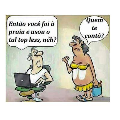 Imagem e Frases Facebook: As mais Engraçadas Aqui.: Dá pra perceber o Top less