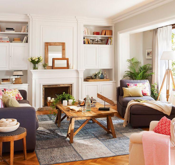 Un piso lleno de luz y color casas for Salones para pisos