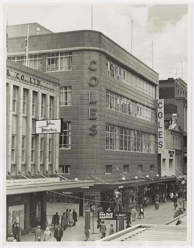 Coles, Rundle Mall, Adelaide, 1977