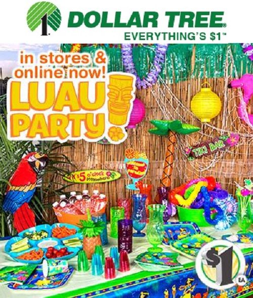 DOLLAR TREE Luau Party Supplies $1 Each