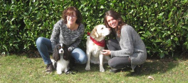 Cani da terapia, Sheila e Tiziana con Schizzo e Geremy