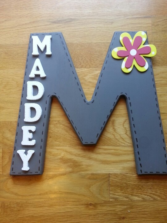 For Their Bedroom Door Name Sign Family Crafts Pinterest