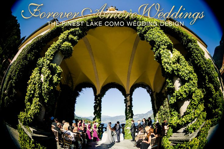 Summer ceremony at Villa Balbianello, Loggia Durini (Arched Loggia). Picture by Flavio Bandiera ©