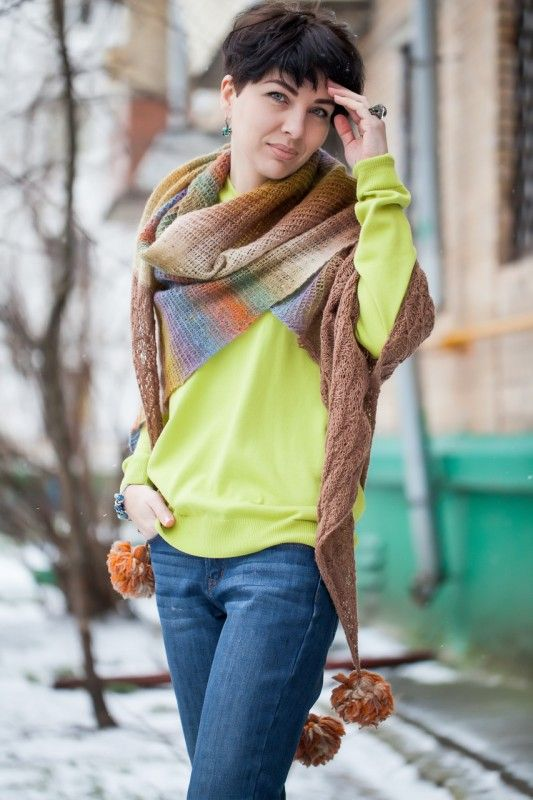 Мы делили апельсин... точнее шаль. Еще точнее - вязали.: ru_knitting