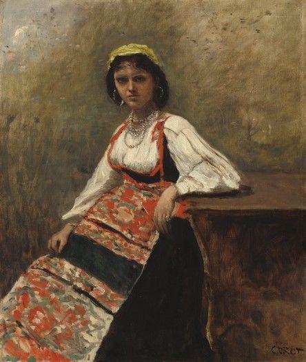 latest addition Jean-Baptiste-Camille Corot Italian Girl c. 1872 Painting