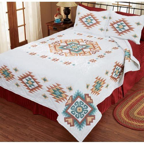 Southwest Bed Quilt Stamped Cross Stitch Kit Herrschners