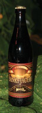Sankt Jacobi Dubbel  Sankt Jakobi er en overgæret øl brygget efter traditionelle belgiske brygmetoder på ikke færre end 6 forskellige malte, sukker, humle, og gær. Øllet er mørk af kulør, alkoholstærk, sød og frugtagtig men stadig let drikkelig. Serveringstemperatur 8-12 C. Sankt Jakobi Dubbel vil være en fortræffelig ledsager til både and, okse og vildt, men kan også give et ostebord et medspil med sin kraft og sødme.