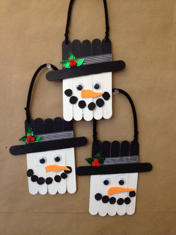 Christmas Craft Ideas With Popsicle Stick : Best ideas about snowman decorations on