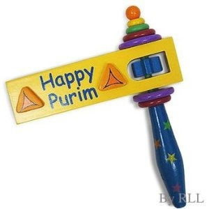 Happy Purim - Grogger Noisemaker Toy