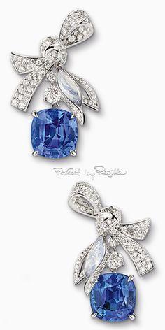 Orecchini in oro bianco, diamanti e zaffiri di Chaumet