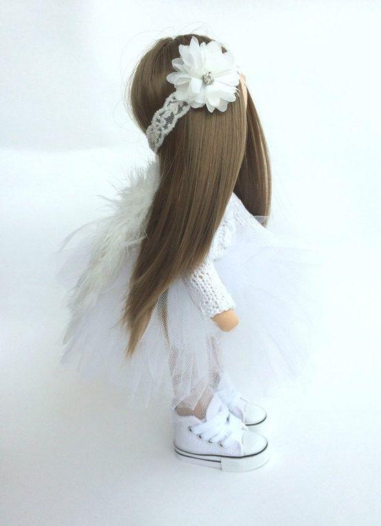 Angel tilda doll Art doll Baby doll handmade by AnnKirillartPlace