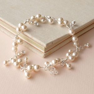 Sprig Ivory Pearl Charm Bracelet