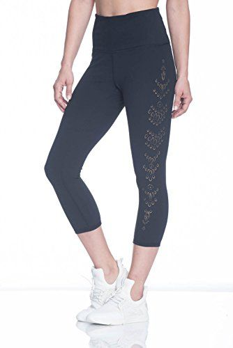 175afa64dc Women's Om High Rise Yoga Capri Performance Spandex Compression Legging