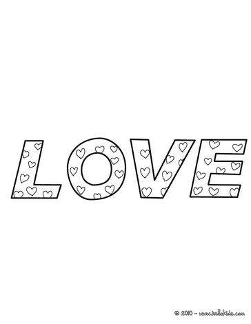 Love para colorir