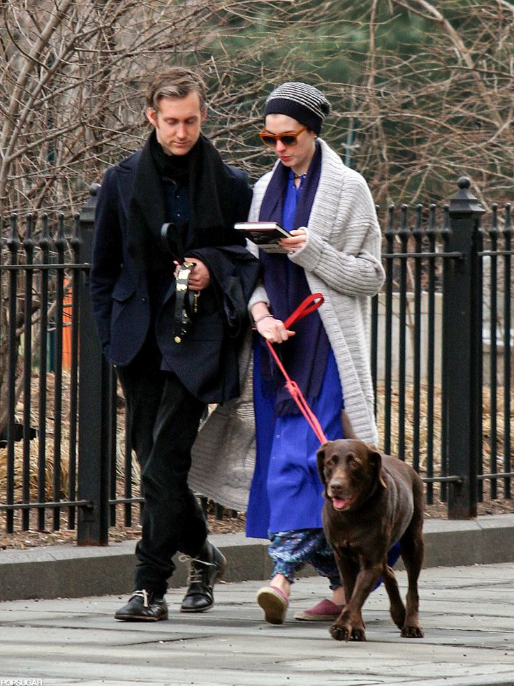 Anne and Adam Take a Smiley NYC Stroll Ahead of Her Oscar News http://www.popsugar.com/celebrity/Anne-Hathaway-Oscar-Nomination-Pictures-26728274