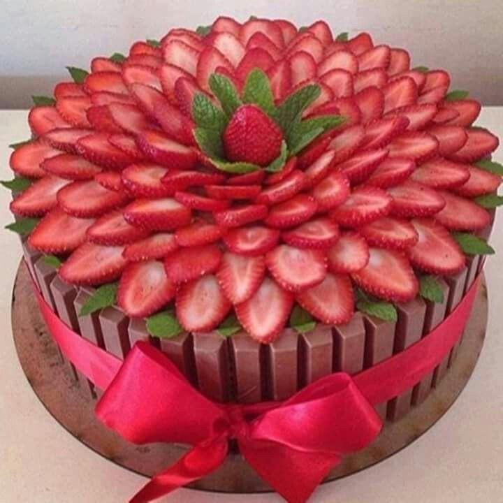Resultado de imagen para decoraciones de pasteles de chocolate sencillos