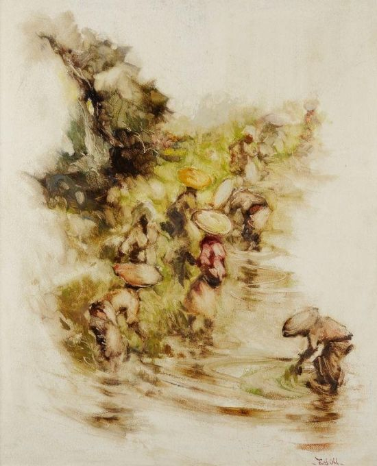 Frits Lucien Ohl (1904-1976) - Werkende vrouwen op de sawah