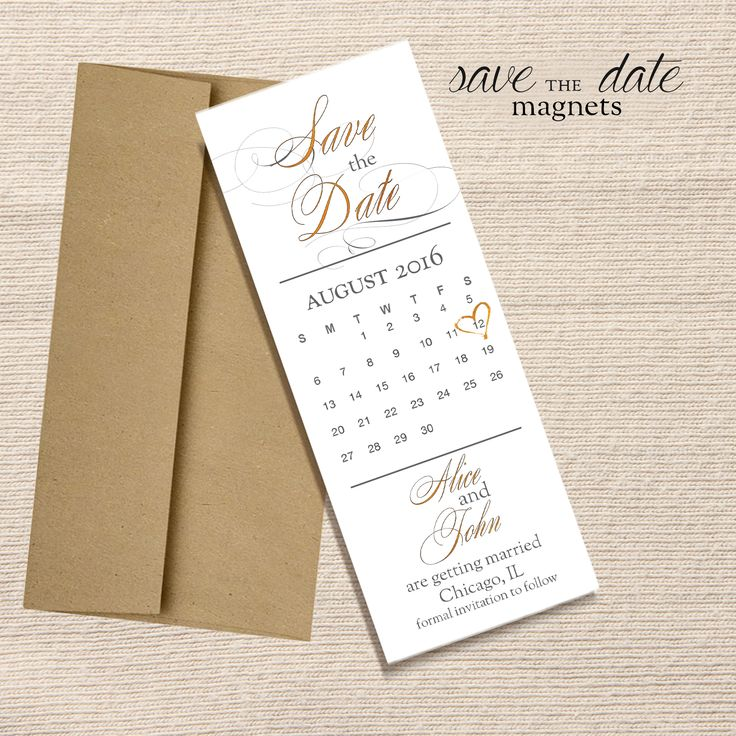 Calendar Save the Date magnet from ywcountdown.com