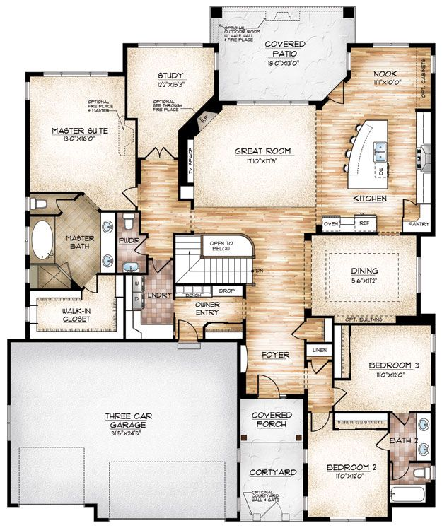 Sopris homes edwards floor plan 2 650 sq ft 1 story for No basement house plans