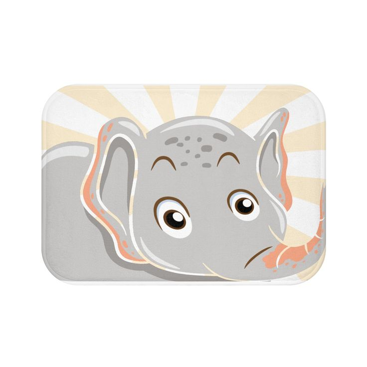 Elephant designed Bath Mat