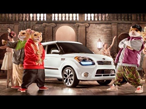 "Kia's ""Bringing Down the House"" 2013 Soul commercial. We don't understand it either, but the song is pretty good."