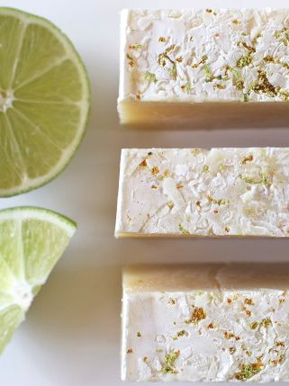 Coconut-Lime Homemade Soap recipe from offbeat + inspired