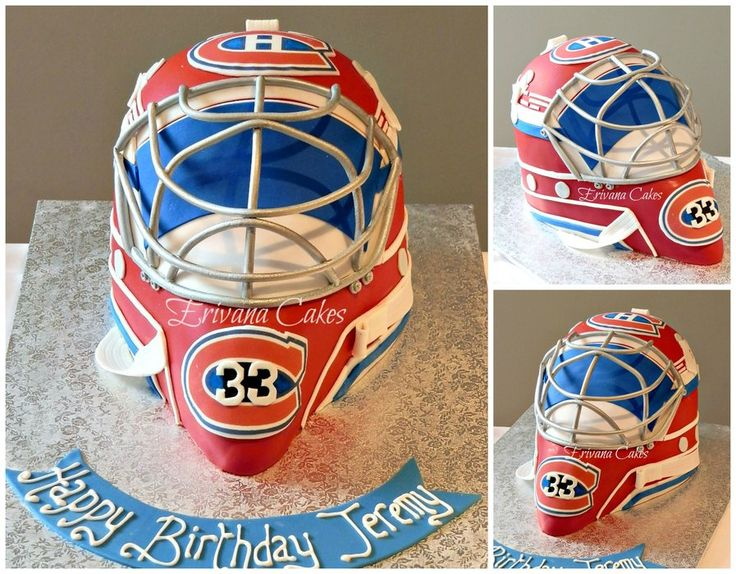 Patrick Roy Goalie Mask cake - by erivana @ CakesDecor.com - cake decorating website