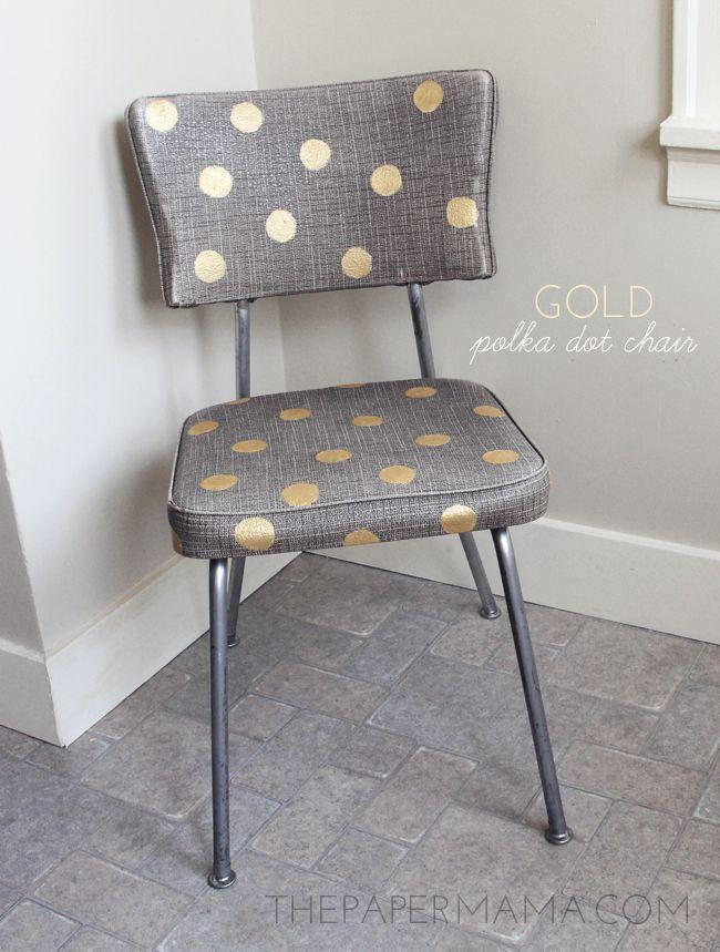 Gold Polka Dot Chair // thepapermama.com