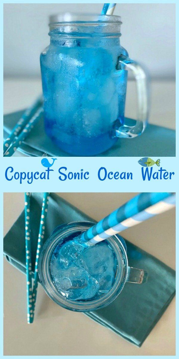 You Ll Swear This Sonic Ocean Water Copycat Recipe Is The Real Deal Recipe In 2020 Sonic Ocean Water Ocean Water Ocean Water Drink