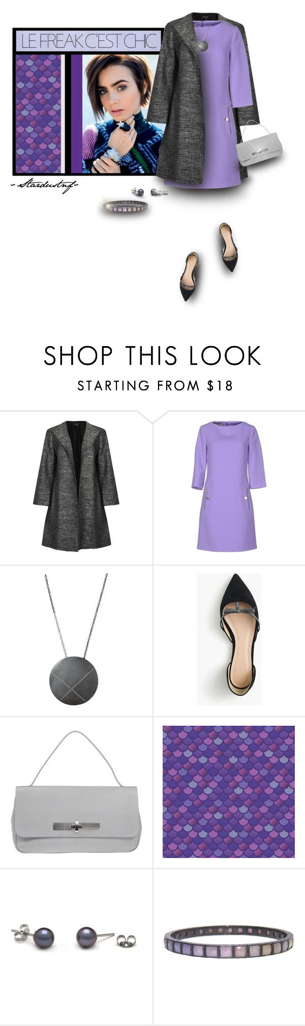 """""""Le Freak C'est Chic (Lilac, Grey & Black)"""" by stardustnf ❤ liked on Polyvore featuring Trilogy, Eileen Fisher, Michael Kors, Todd Reed, J.Crew, Avril Gau, Nak Armstrong, michaelkors, lilac and fearlesscrew"""