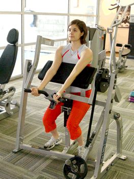 Today's Exercise: Preacher Curl Machine. Killer move for the biceps!