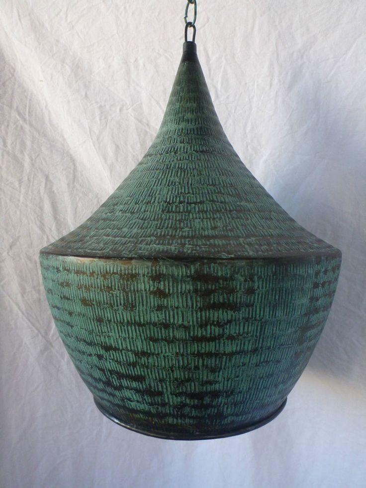 Balinese Copper Hanging Ceiling Lantern Light Fitting Lamp