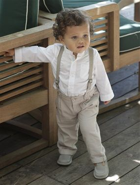 Baby Boy's Shirt & Trousers Outfit, Baby 0-36 months   Vertbaudet