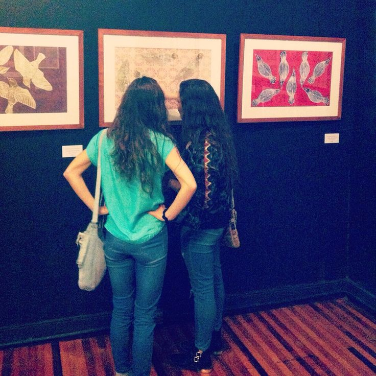 En mi exposición! Galería Black Onaciu Bellavista, Stgo