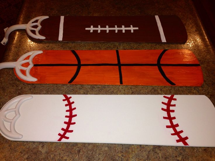 Painted Ceiling Fan Blades Baseball