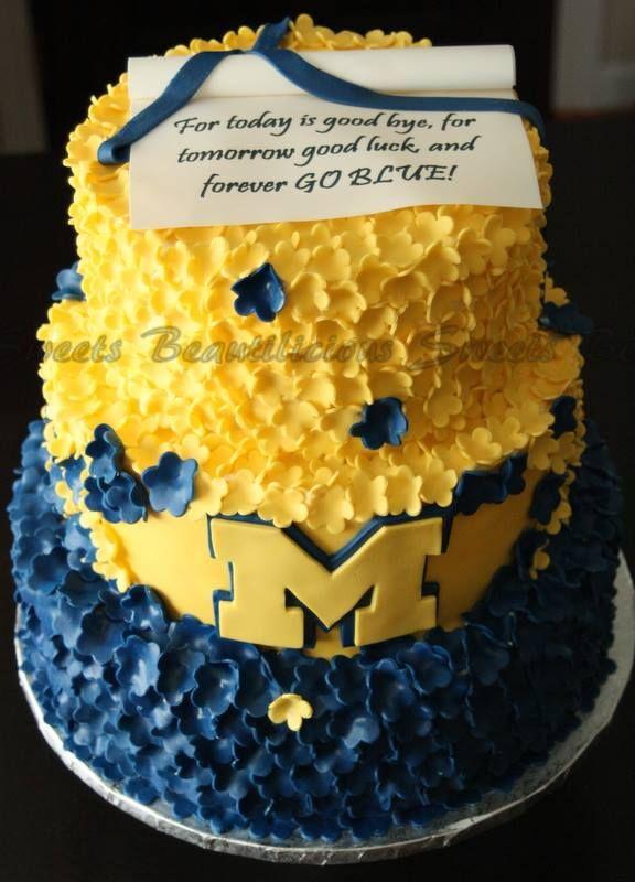 University Of Michigan Cake Cakes Cake University