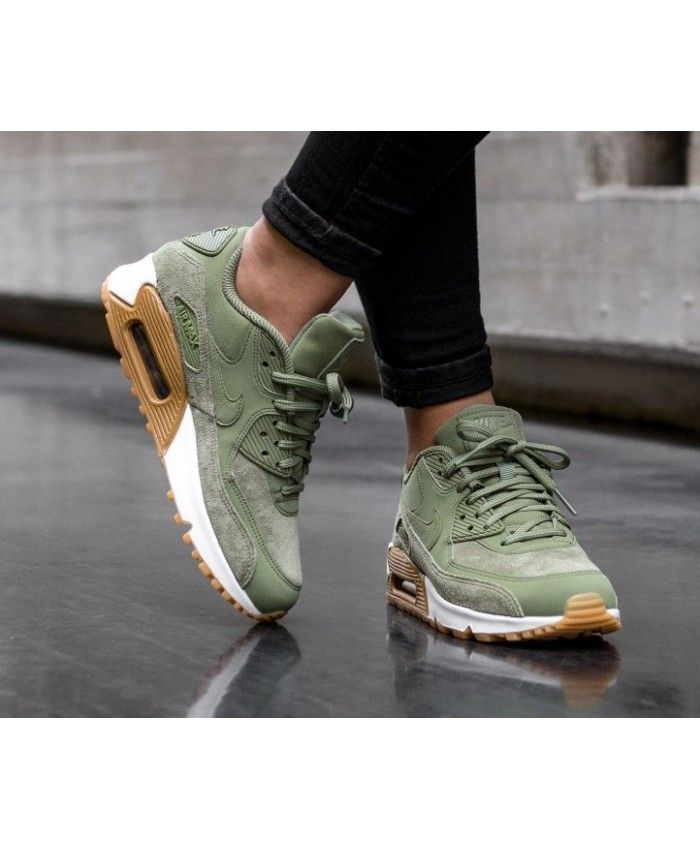 new arrival c18d3 031a3 Nike Air Max 90 SE Trainers In Green Brown White